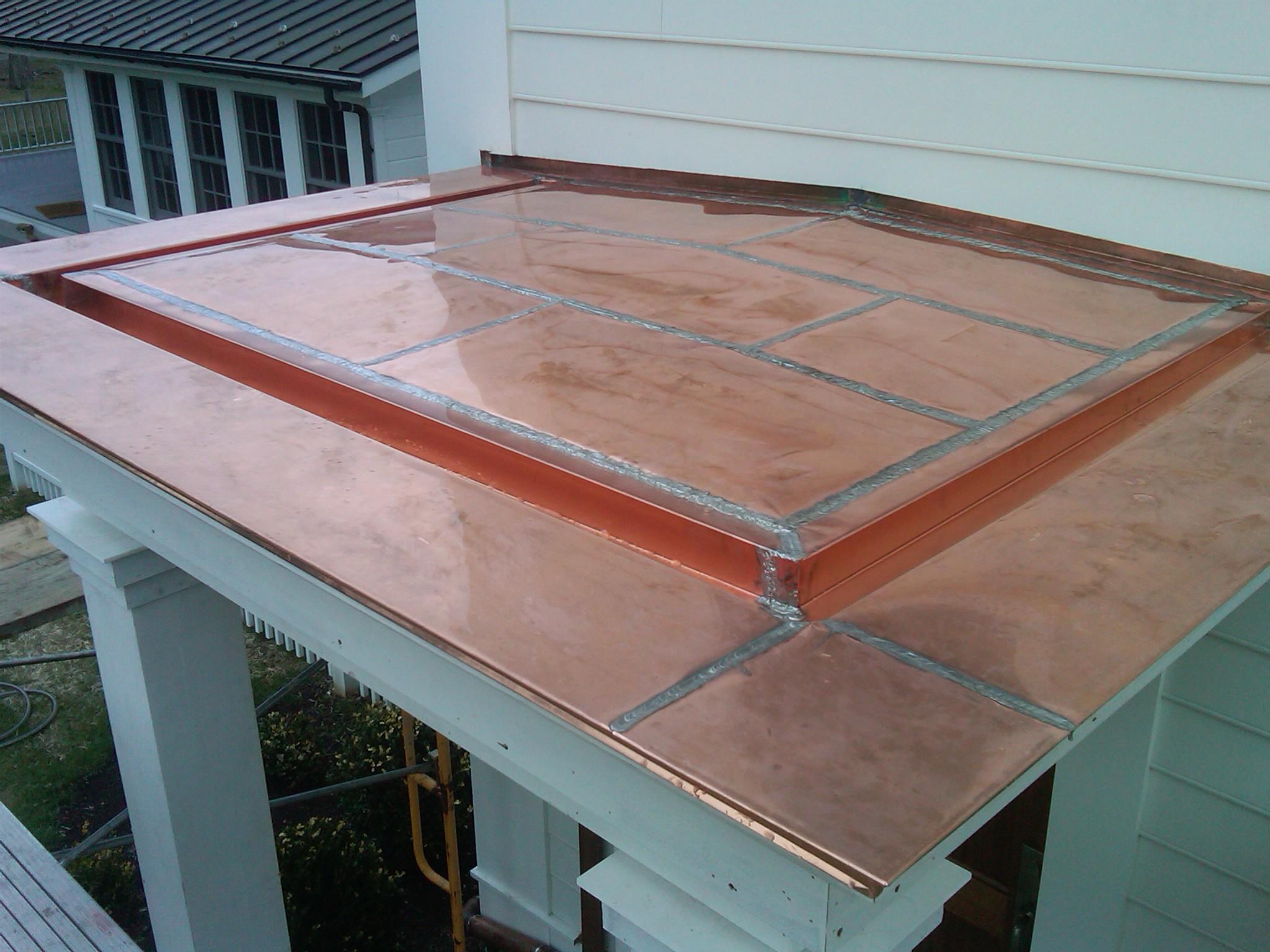 Flat Roofs Flat Seam Copper Roof