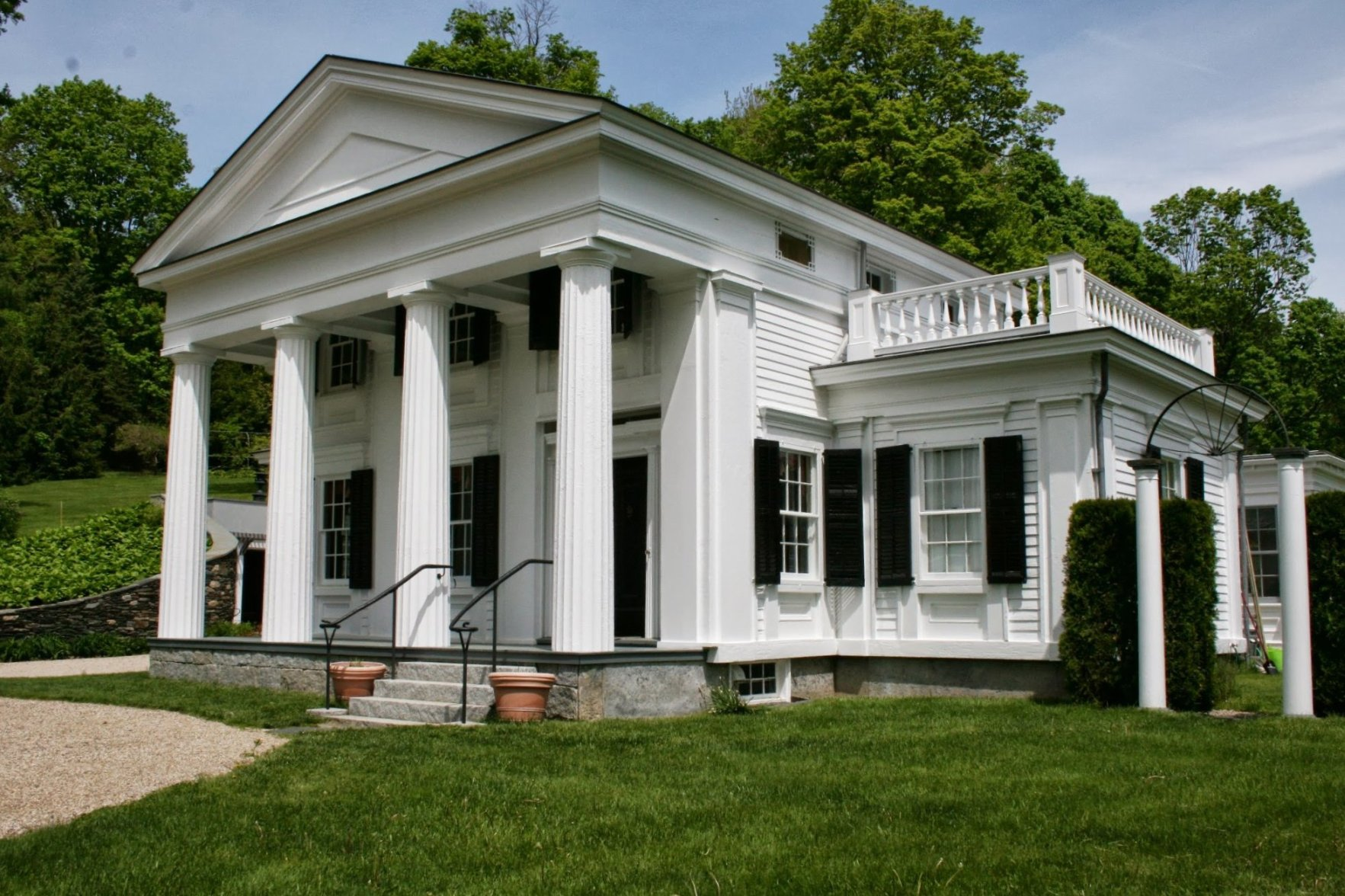 Ask Your Contractor About Built In Gutters on Greek Revival House Plans