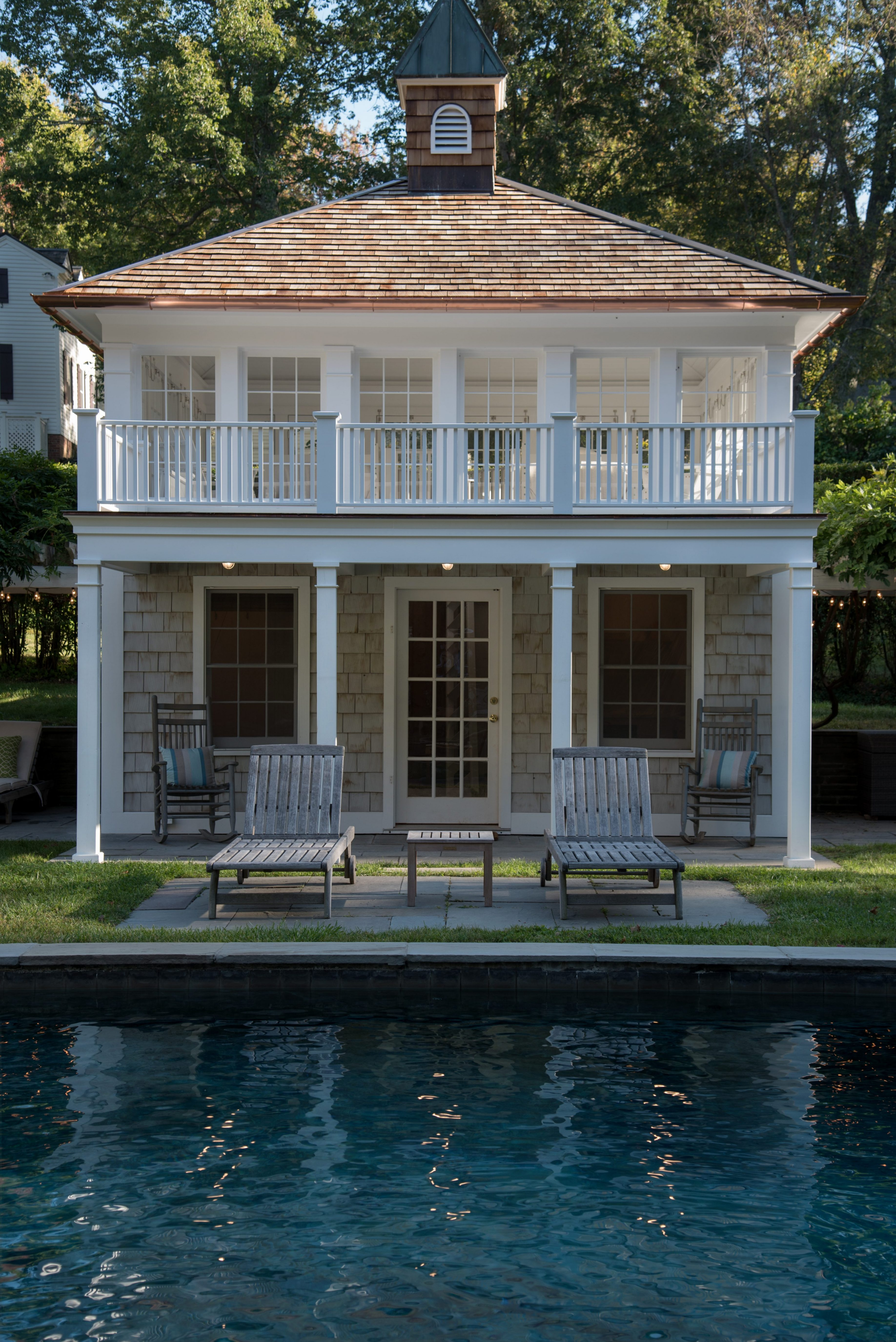 Front of Pool House