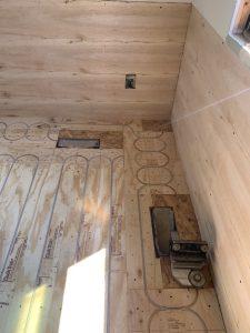 radiant heated floors installation